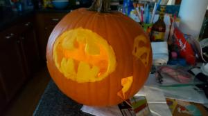 Dear grandson's pumpkin..